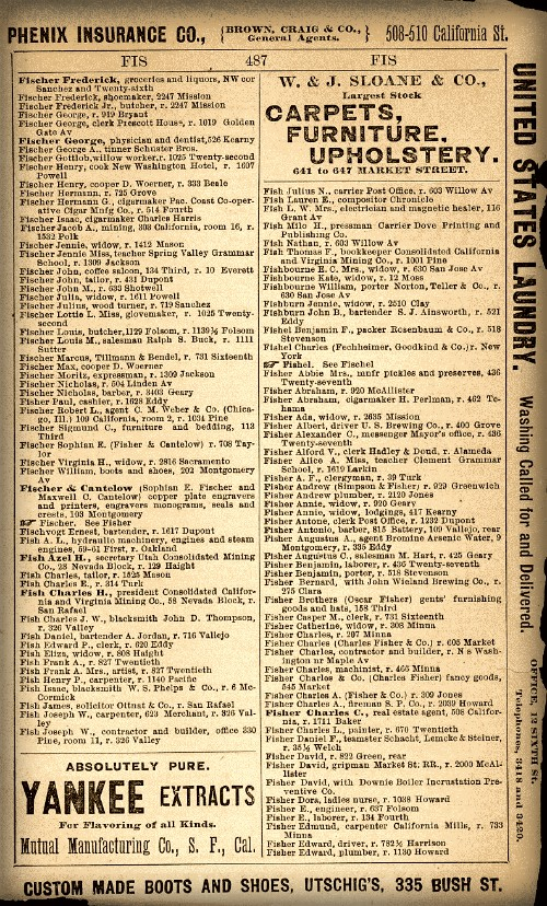 San Francisco Business Listing. Image: Library of Congress.