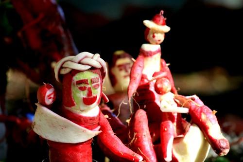 Radish Festival. Image: drewleavy/Flickr; Wikipedia.