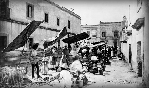 Mexico Street Market, 1885. Image: Library of Congress.