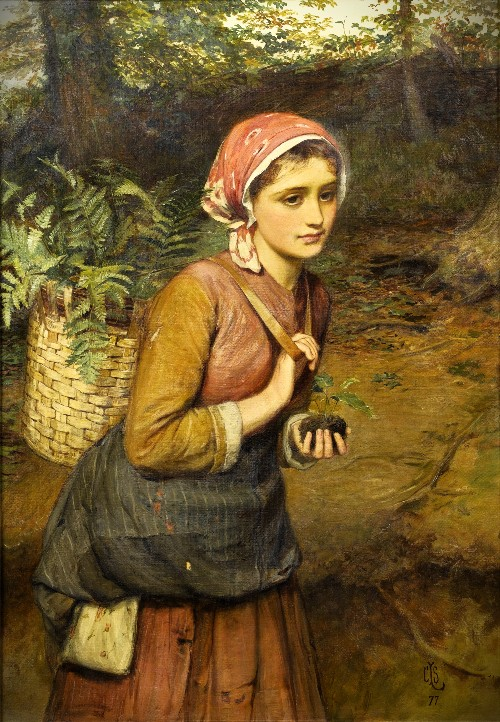 The Fern Gatherer, 1877 by Charles Sillem Lidderdale. Image: The Athenaeum.org.