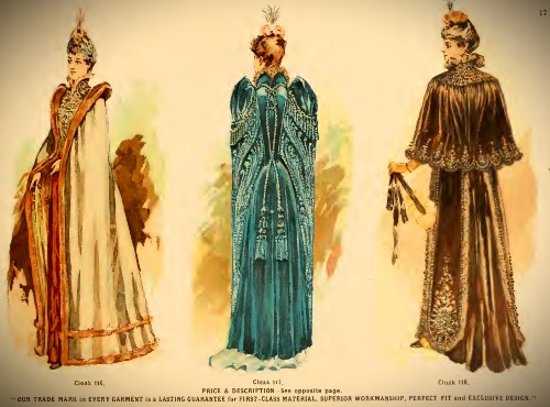 Deutsch & Company Opera Gowns, 1891. Image: Original Catalogue-Archive.org.