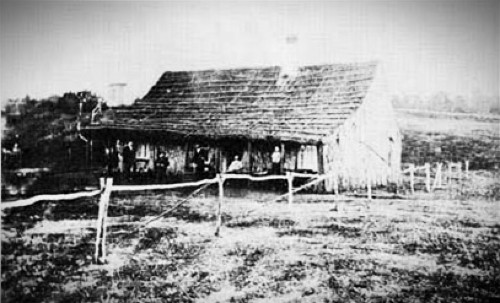 Volcano House Hotel circa 1866. Image: National Park Service.gov.