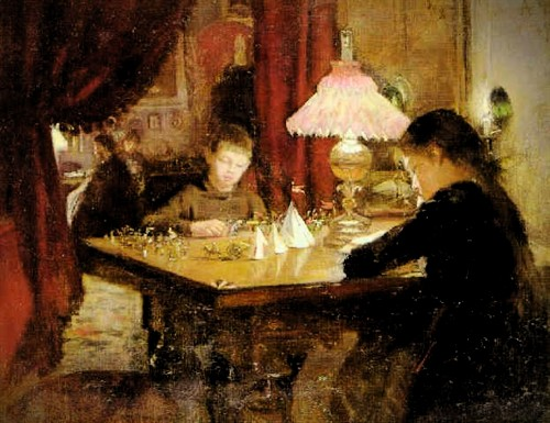 Interior With Playful Children, 1889 by Anne Petersen. Image: the-athenaeum.org.
