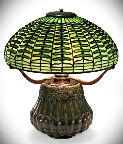 Fern Table Lamp by Tiffany, c. 1900- 1902. Image: Sotheby's.