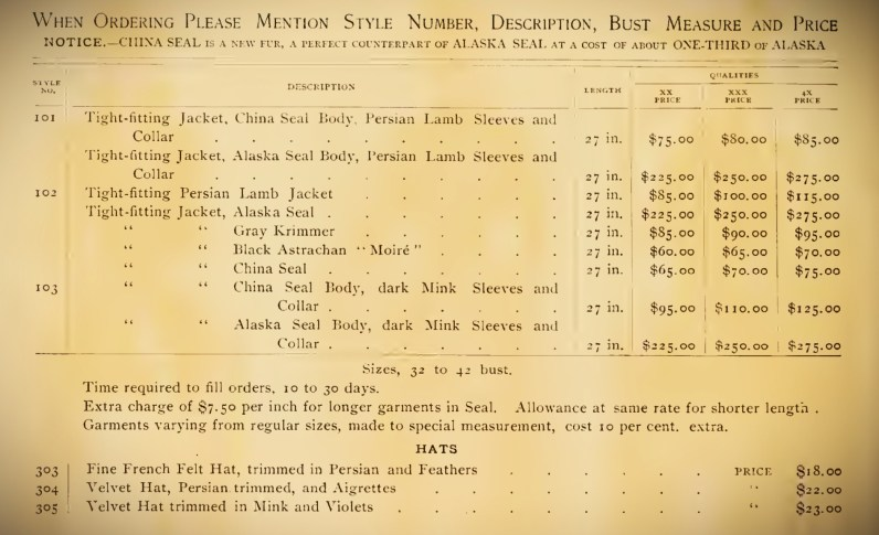 Deutsch & Company Order Information, 1891. Image: Original Catalogue-Archive.org.