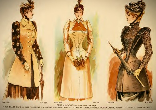 Deutsch & Company Suit Coats, 1891. Image: Original Catalogue-Archive.org.
