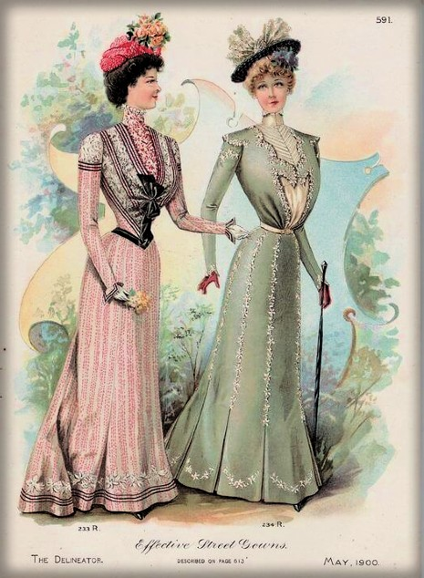 Street Gowns,1900, The DelineatorMagazine. Image: Wikipedia.