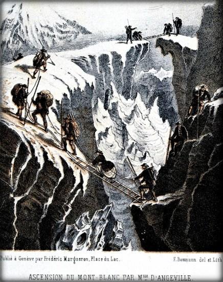 Henriette d'Angeville Ascending Mont Blanc, 1838: Image: Wellcome Library, London.