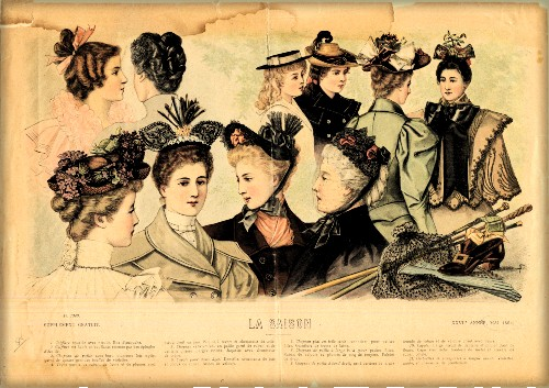 Mauve Decade Hats, 1894. Image: Claremont College Digital Library.