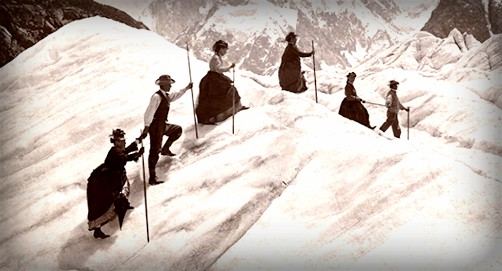 Chamonix Climb, c. 1890. Image: Alpine Club Photo Library, London.