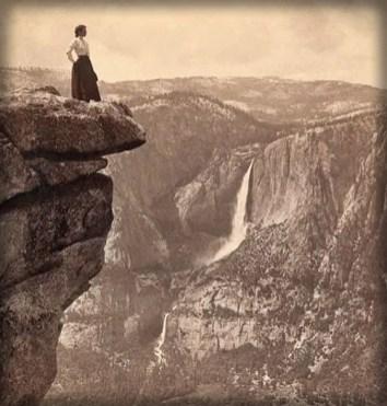 Female Climber, c. 1890, Glacier Point, Yosemite. Image: nps.org..