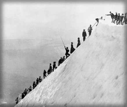 Alpine Climb, c. 1890s. Image: Wikipedia.