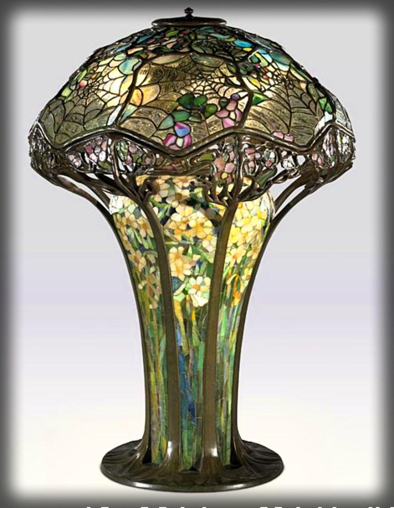 Cobweb or Spiderweb Lamp c. 1900. Image: Virginia Museum of Fine Arts.