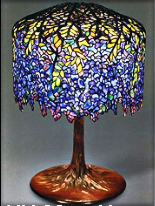 Clara Driscoll-Wisteria Lamp Shown at World Expo 1893. Image: Arcadiasystems.org.