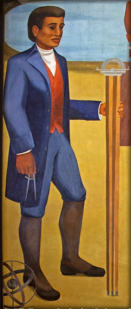Benjamin Banneker Mural (cropped). Image: Library of Congress.
