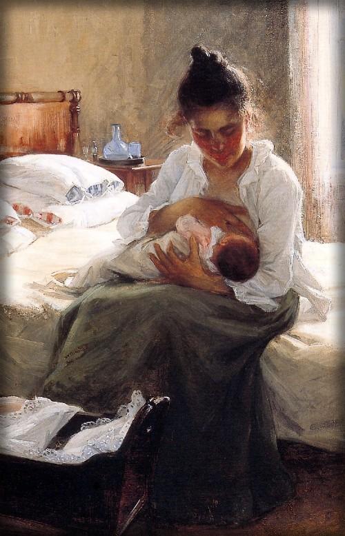 Motherhood by Danielson Gambogi Elin, 1893. Image: The-athenaeum.org.