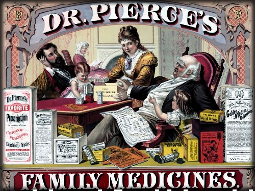 Dr. Pierce's Family Medicines. Image: Wellcome Collection.