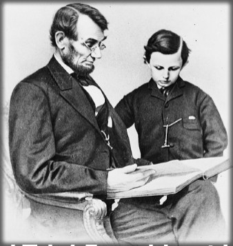 Abraham Lincoln and Son Tad, 1864. Image: Library of Congress.