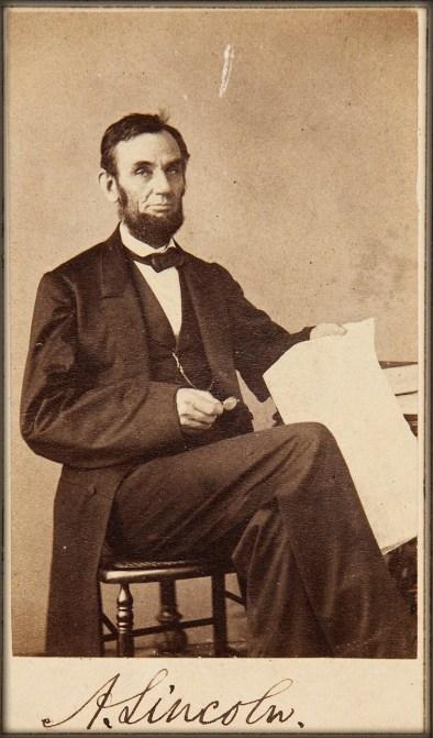 Abraham Lincoln Carte de Visite, 1863. Image: Heritage Auctions.