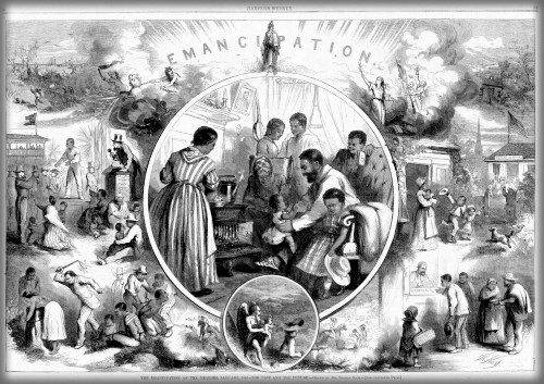 Emancipation from Freedmen's Viewpoint, Harper's Weekly 1865. Image: Wikipedia.