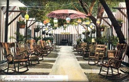 Tent City Cabanas, Catalina Island, CA, c. 1900. Image: ShellBellesTikiHut.com.