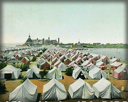 Historic Carousel Tent City, Coronado, CA, c. 1908. Image: SanDiegoHistory.org.