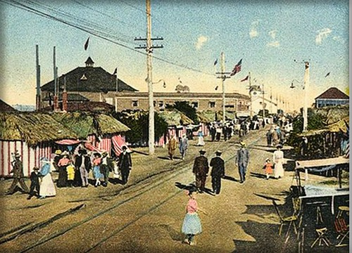 Historic Carousel Tent City, Coronado, CA, 1915. Image: SanDiegoHistory.org.