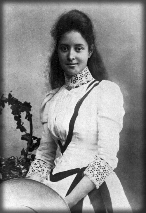 Surfing Princess Kaiulani )age 17) at Great Harrowden Hall, 1892. Image: UHM Library Digital Image Collections.