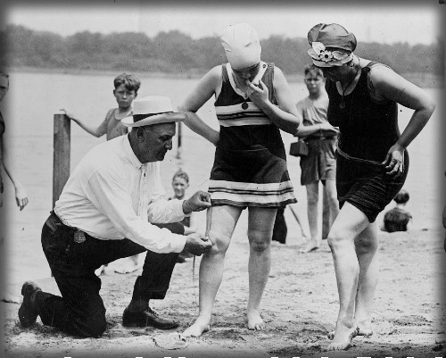 Swimsuit Police, 1922. Image: Library of Congress.