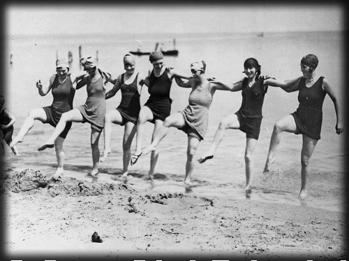 Dancing On The Beach, c. 1920s. Image: Library of Congress.