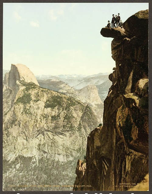 Glacier Point Yosemite, Tourists Post Card, c. 1890s. Image: Library of Congress.