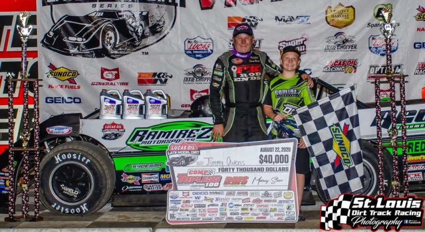 20 - Owens Wins Topless 100 - St Louis Dirt Track