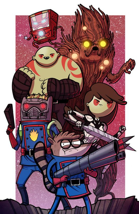 Guardians_of_ooo___collab_w_mike_vasquez_by_joehoganart-d7gkxzq
