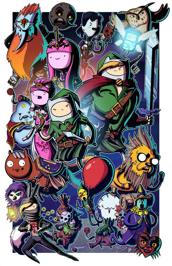 Ocarina_of_adventure_time___collab_w_mike_vasquez_by_joehoganart-d6gbyof