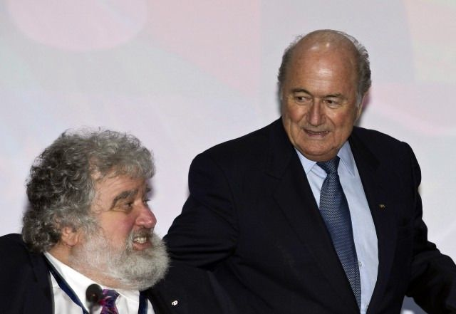 Chuck Blazer and Sepp Blatter before the 61st FIFA Congress in 2011.