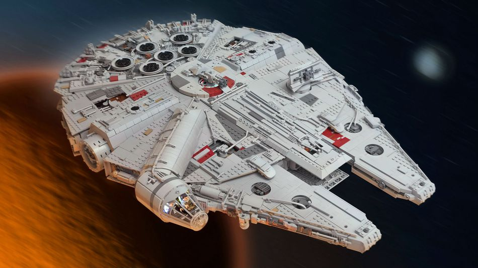 this epic millennium falcon took 7 500 lego bricks and a full year to