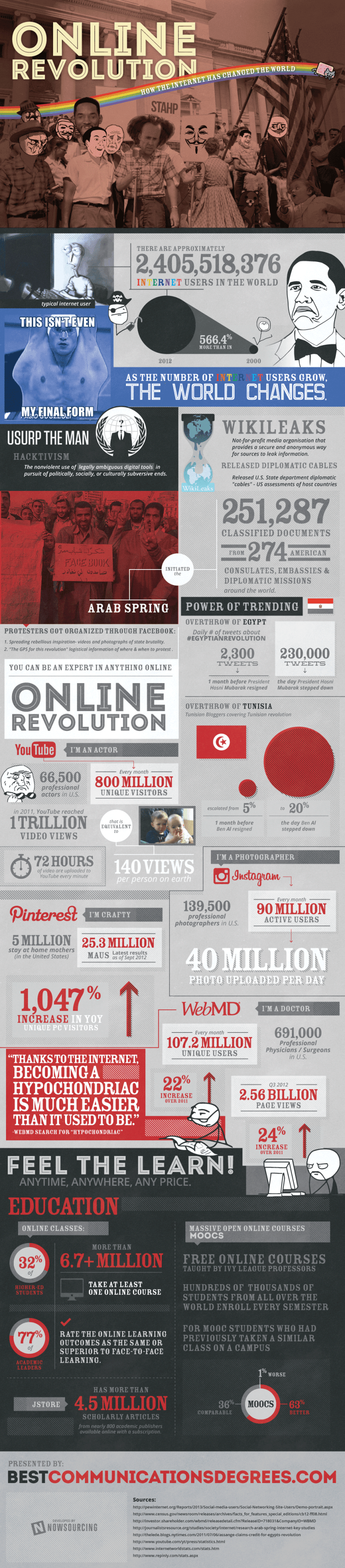 Infographic - The Online Revolution