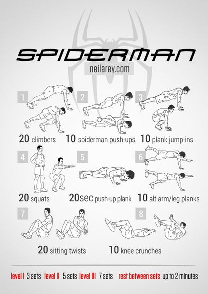 Spiderman-workout