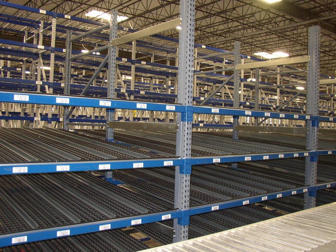 pallet rack integrated carton flow