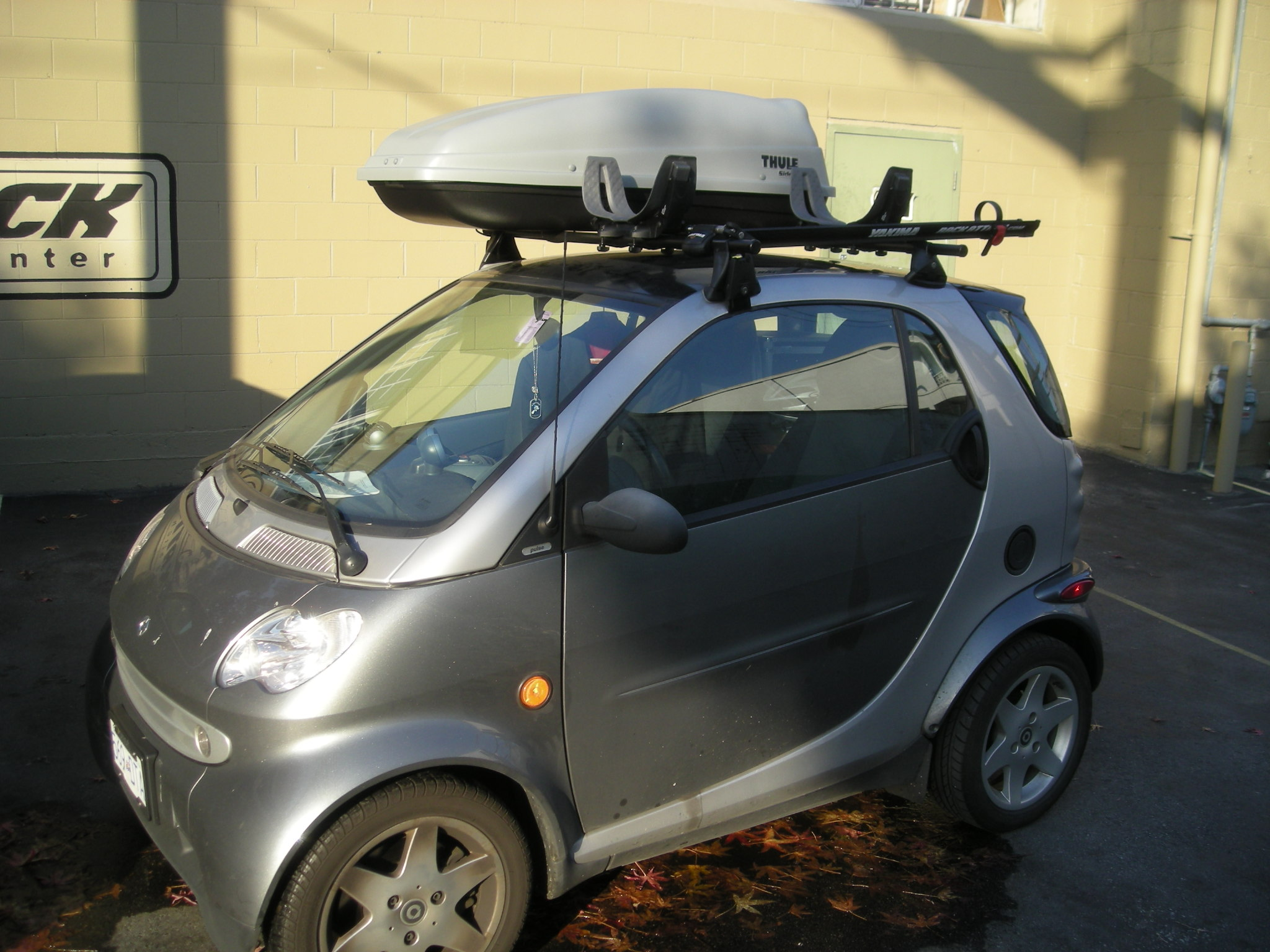 2008 smart car roof rack rack attack