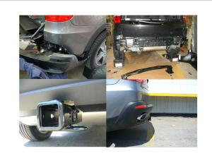 Trailer Hitch Installs and Bike rack examples – BMW X5