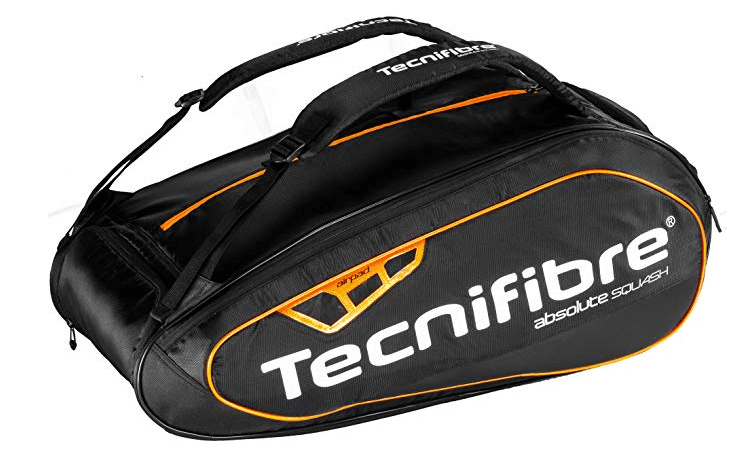 Tecnifibre Absolute 6R Squash Bag Orange/Black