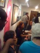 Show's voice actors talking with fans