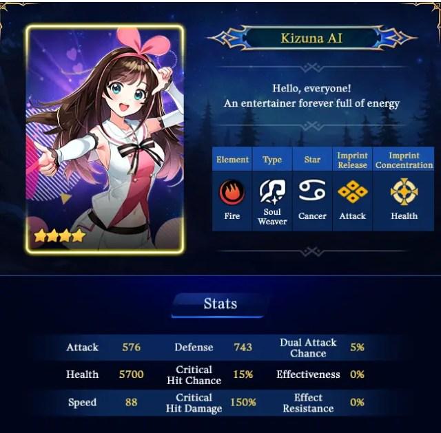 Kizuna AI Epic Seven collab