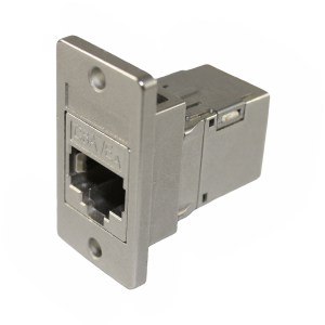 Cat6A RJ45 Panel Coupler, Shielded Female - Female CDF-C6AS