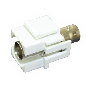 NC 50 Ohm Keystone Mount Coupler, Female - Female CKM-BNC-50