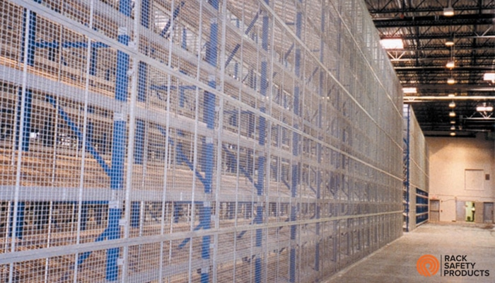 wire mesh rack guard back guard for