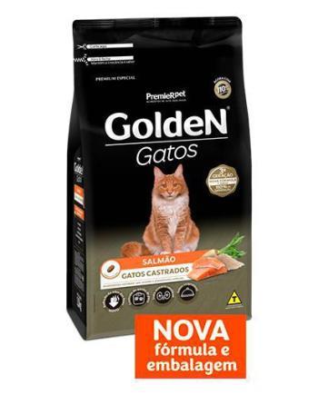 RAÇÃO GOLDEN GATOS CASTRADOS SALMÃO 10KG