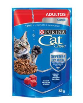 CAT CHOW SACHE ADULTOS CARNE 85G