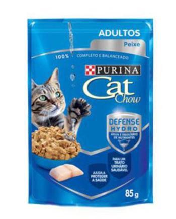 CAT CHOW SACHE ADULTOS PEIXE 85G